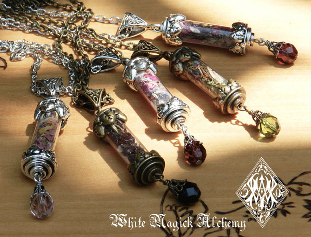 Custom Alchemy Pendant Charm Necklace Spell Bottle . Made For Your Specific Intent