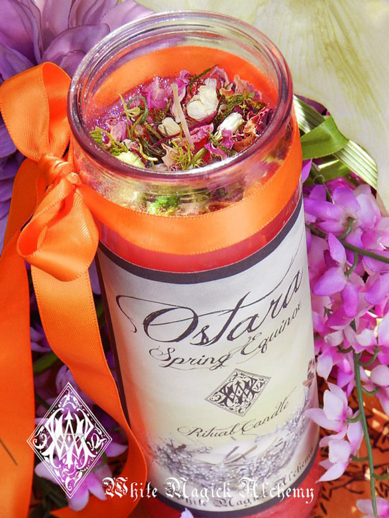 Ostara Vigil Lights Candle  for Spring Equinox & Easter
