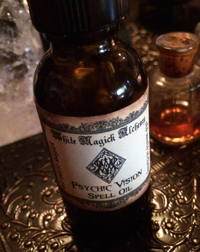 PSYCHIC VISION Oil . Clairvoyance, Psychic Awareness, Trance Mediums, Spiritualist Enlightenment