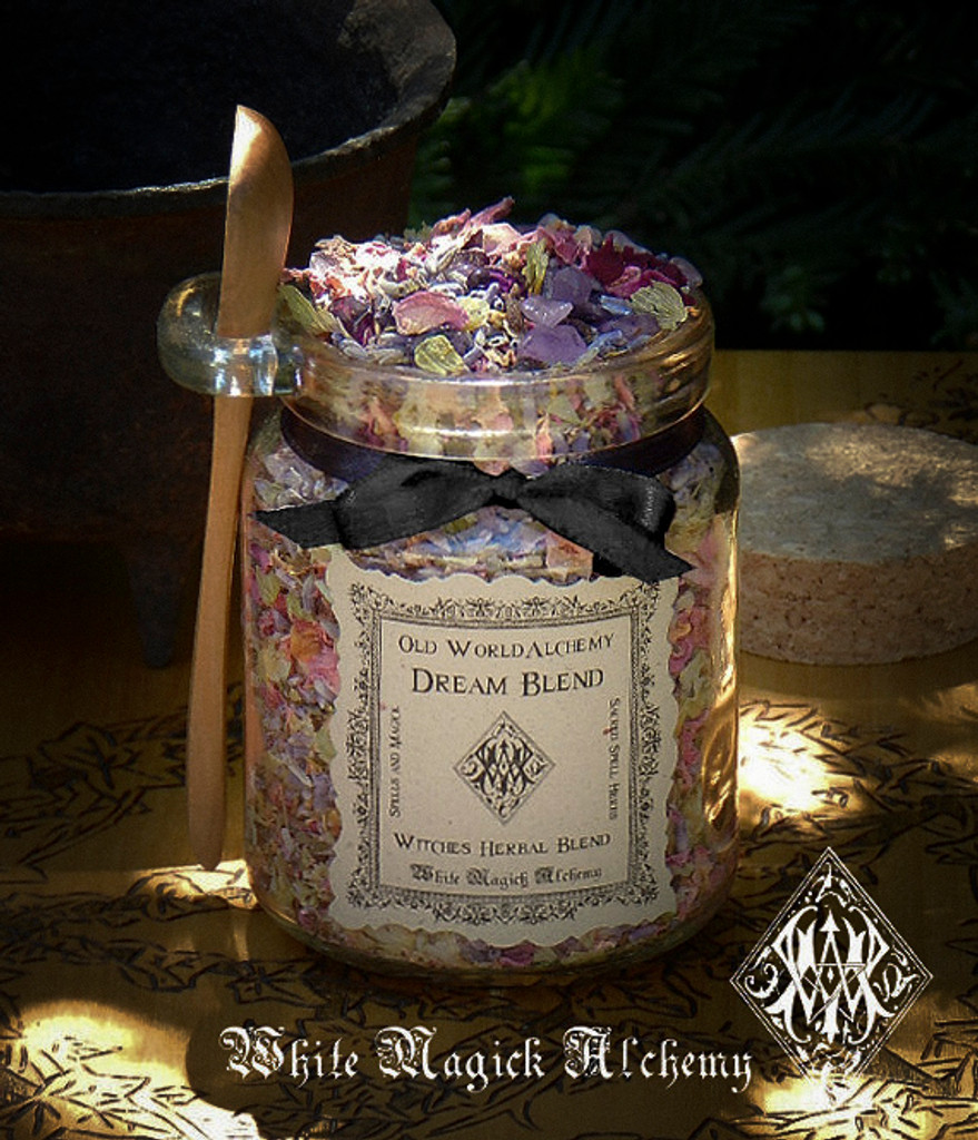 DREAM Proprietary Herbal Spell Blend 8.5 Ounce Jar with Wooden Spoon