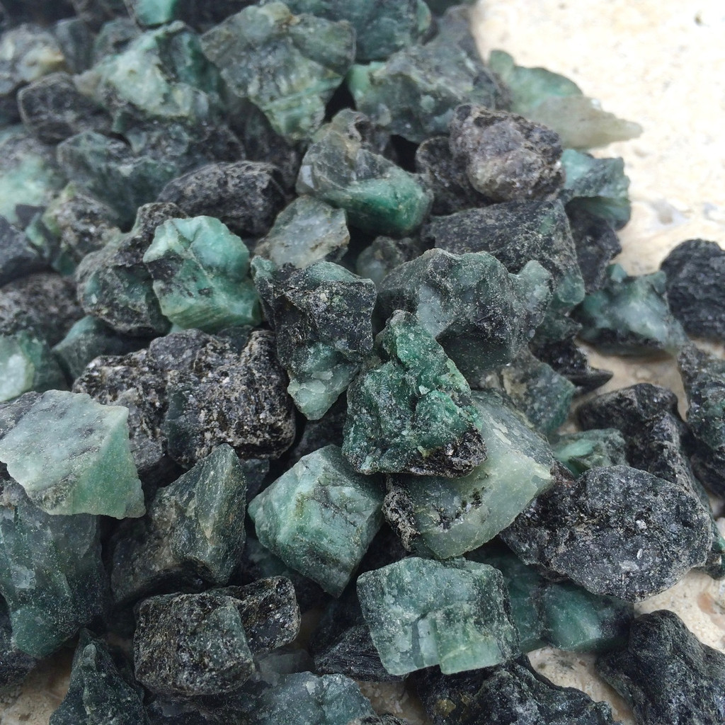 Emerald Gemstones Raw Natural Set of 5