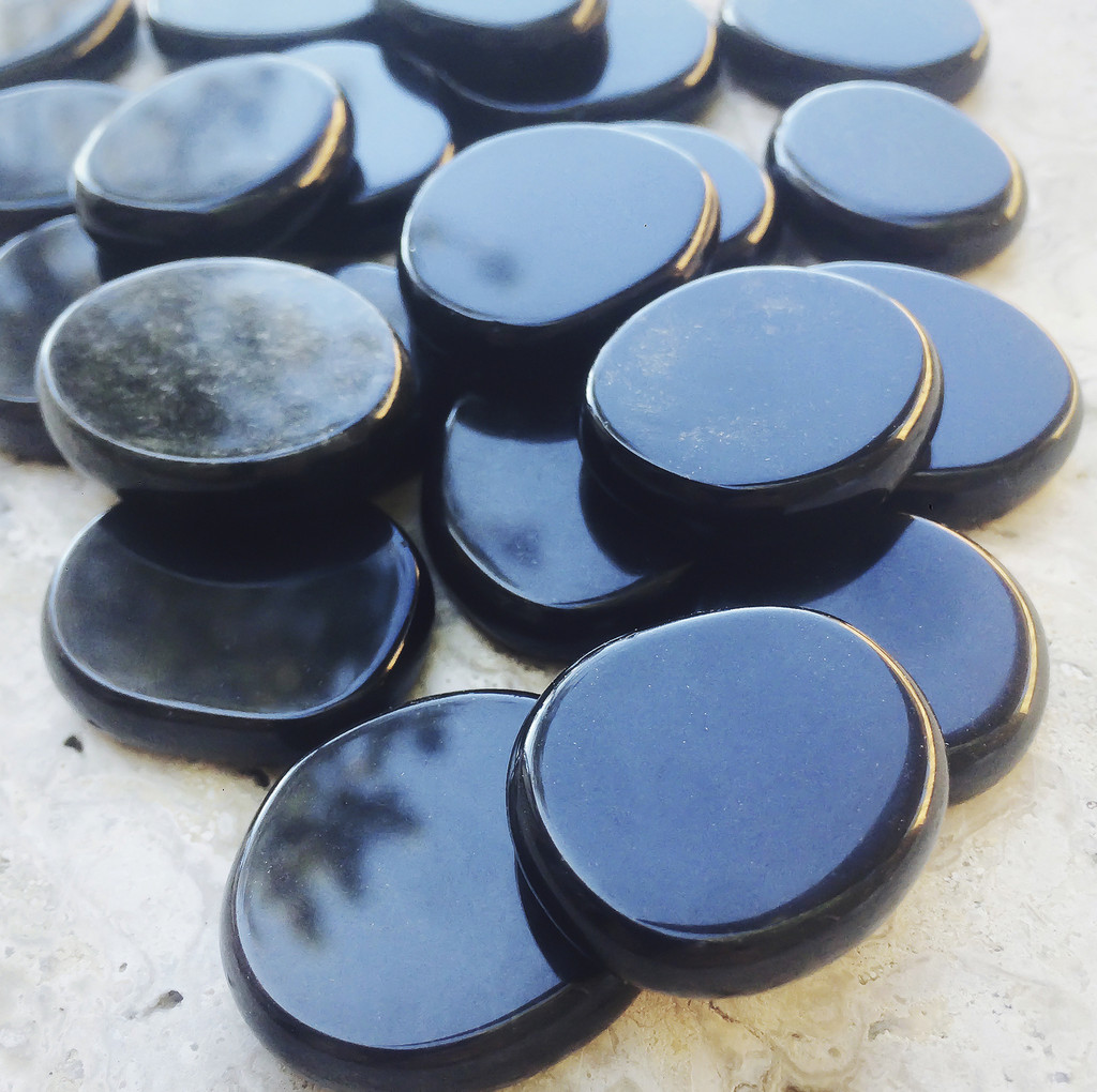 Black Obsidian Gemstone Medallions, Protection & Deflecting Negative Energies