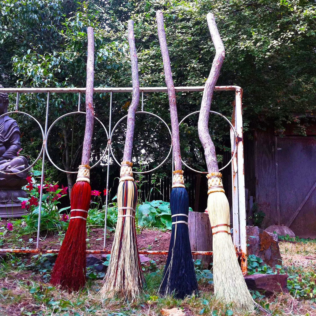 Witch Brooms & Besoms Ceremonial Brooms for Cleansing Ceremonies, Handfastings, Weddings & Ritual