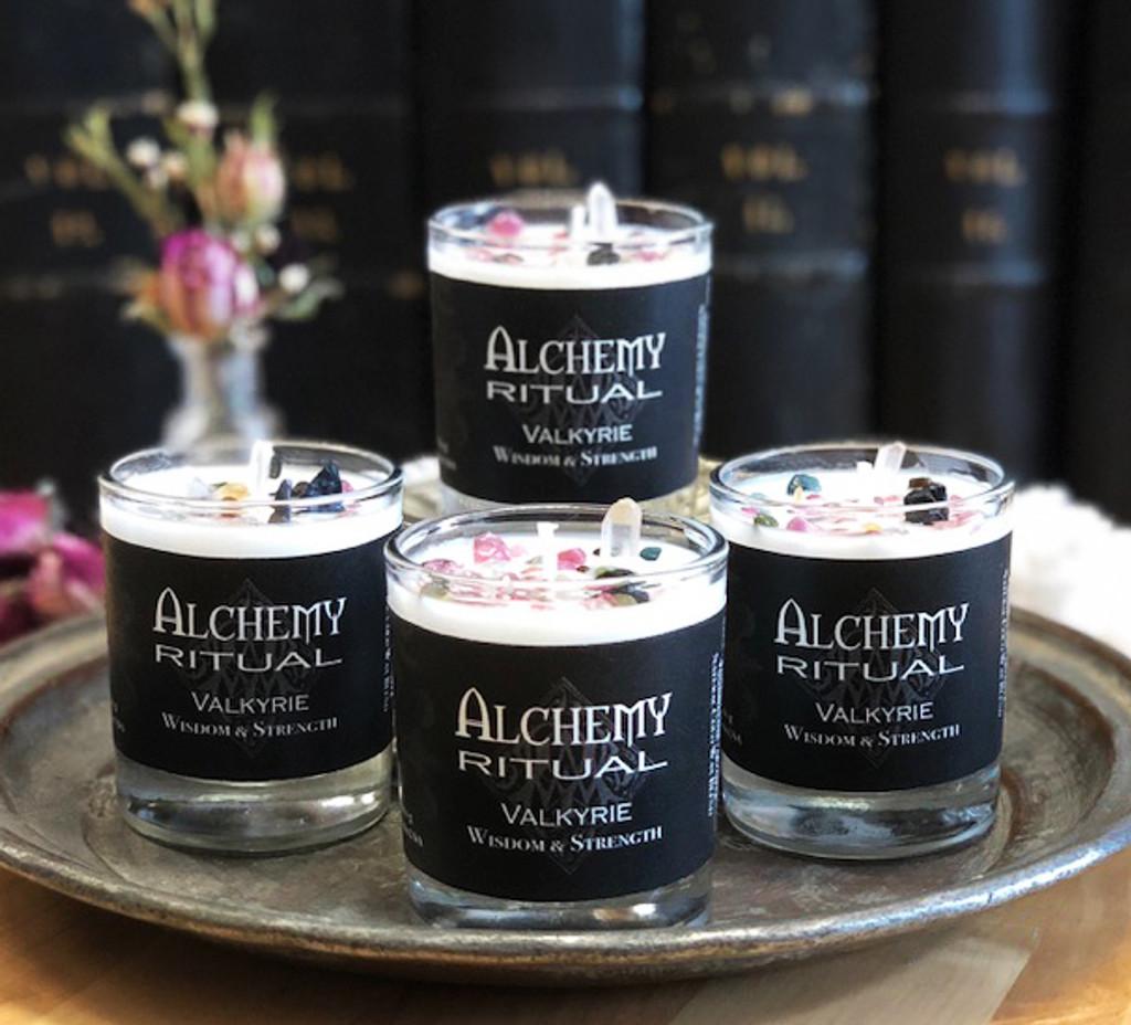 Valkyrie Petite - Alchemy Ritual Candles for Wisdom, Strength & Weaving Destiny