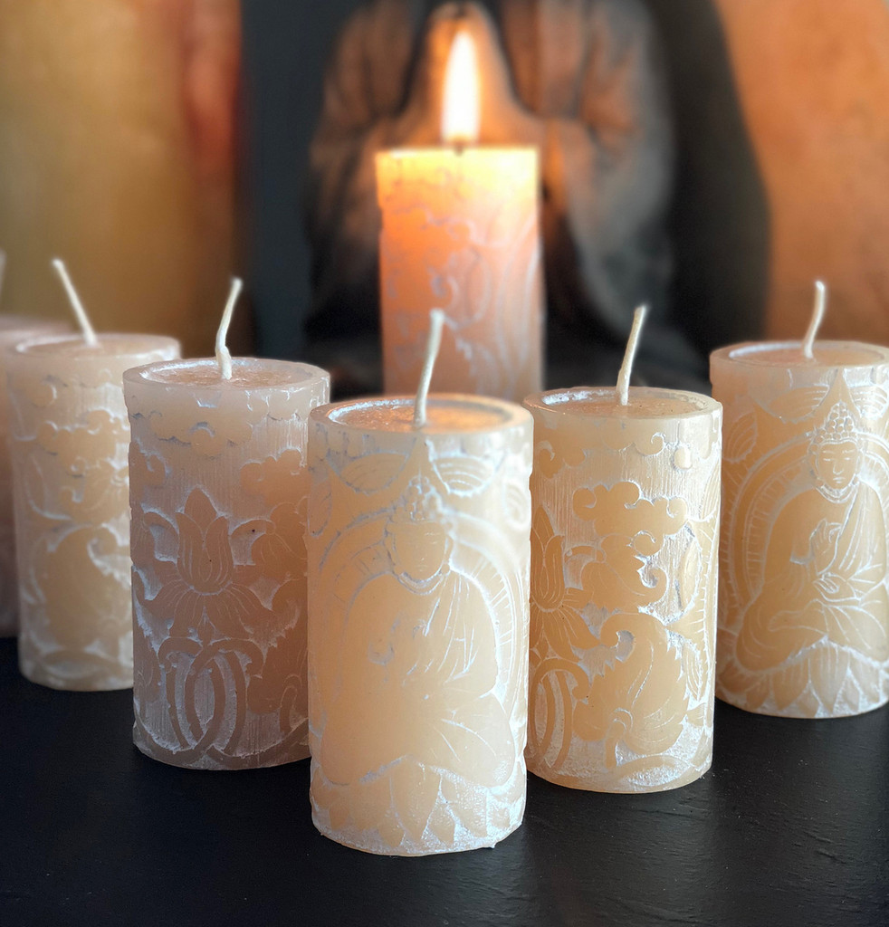 Antique Jasmine Meditation Candles with Vintage Jasmine