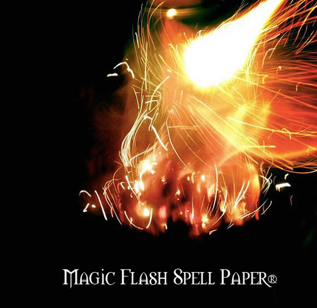 Magic Flash Paper® Sparking Spell Papers . Release your Intention to the Universe