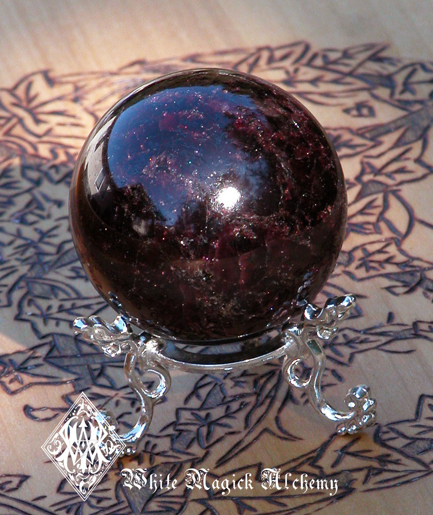 Natural Garnet Gemstone Spheres Beautifully Polished for Protection, Healing, Success, Passion, Faerie Workings
