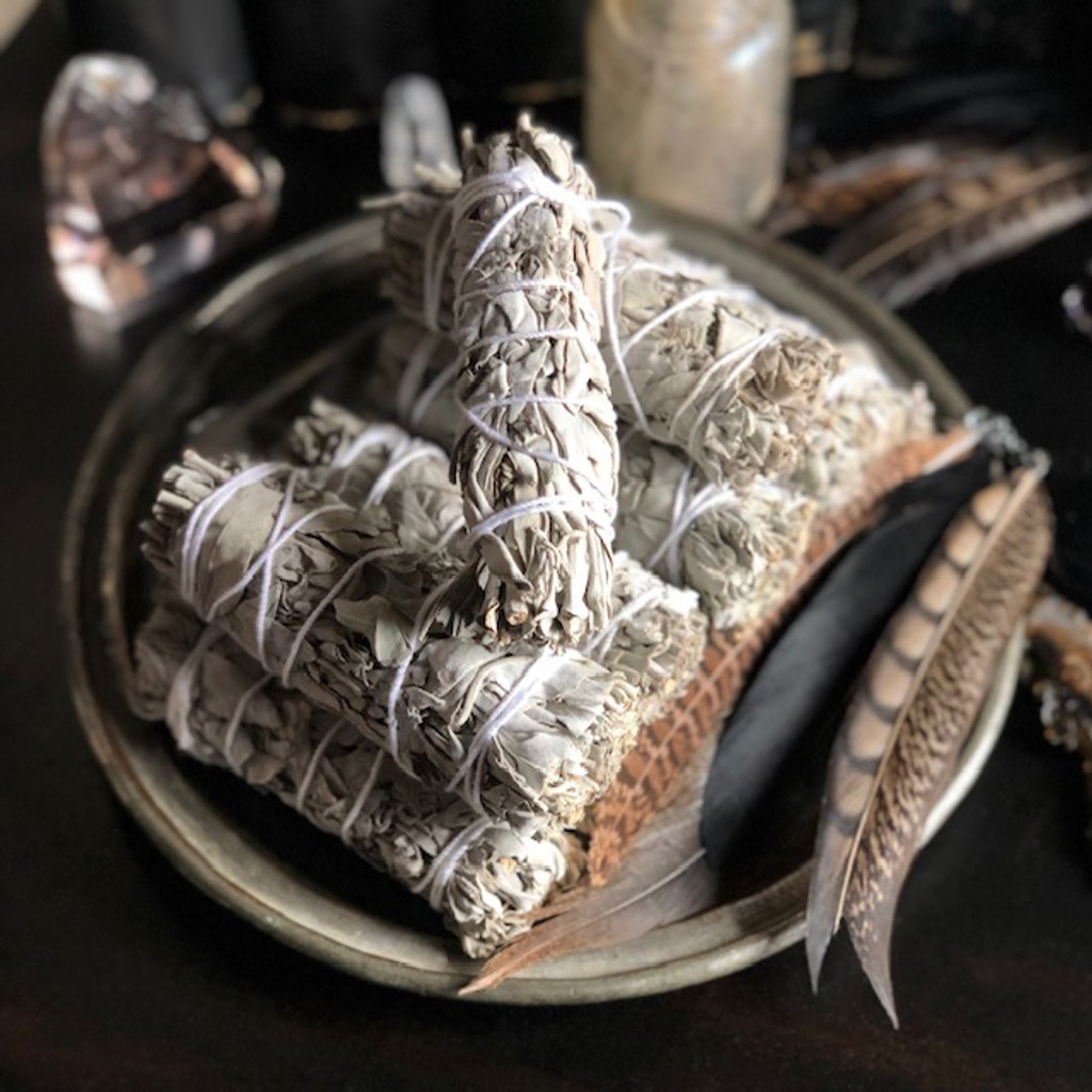 White Sage Smudge Bundles for Cleansing and Clearing the Home of Negativity, Spiritual Cleansing, Banishing & Protection 5""