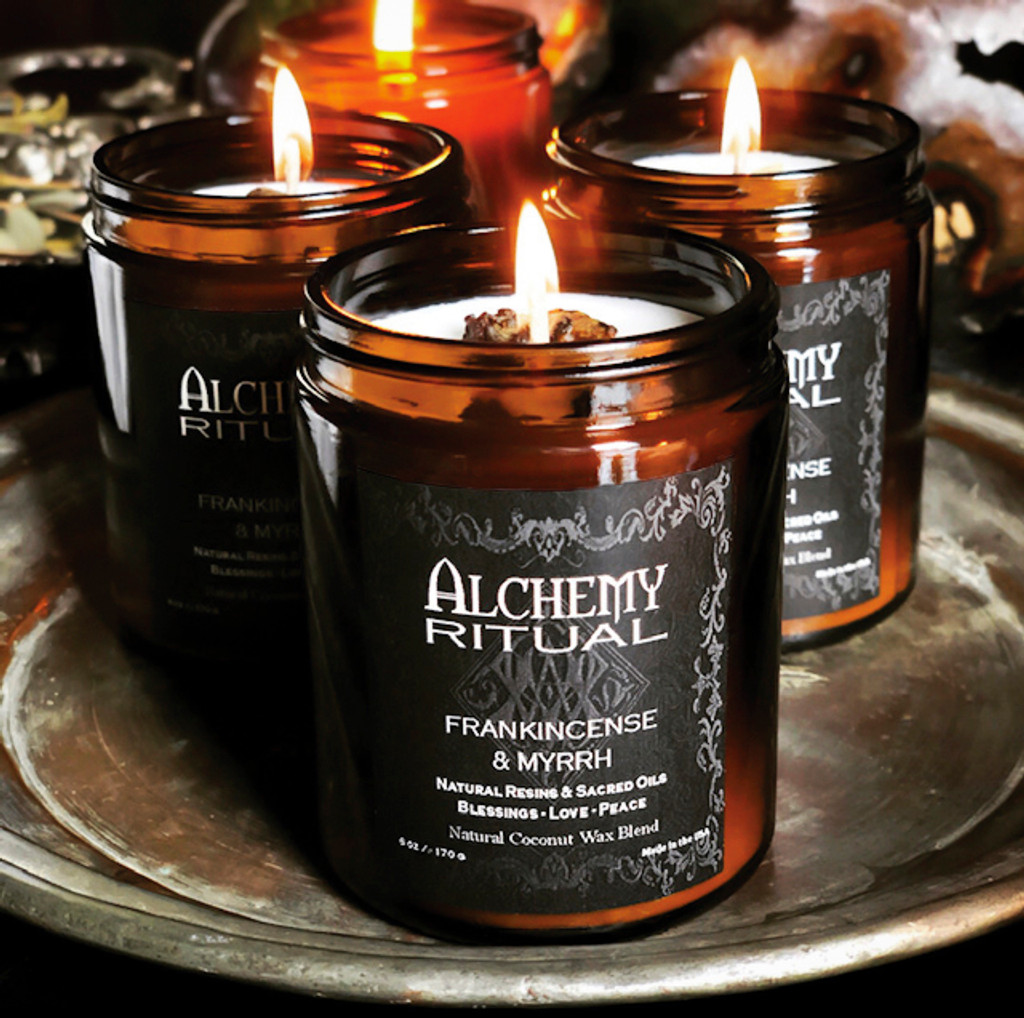 Frankincense & Myrrh Ritual Candles Alchemy