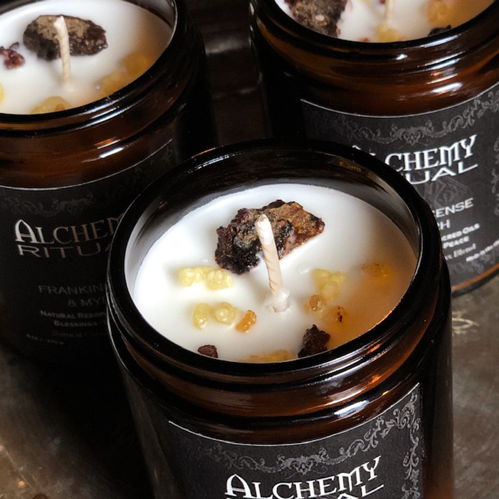 Alchemy Ritual Candles about Frankincense and Myrrh