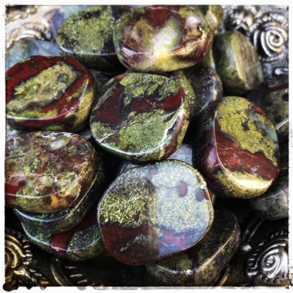 Dragon Stone Gemstone Medallions for Fiery Dragon Energy, Wealth, Courage, Power & Breaking Old Habits