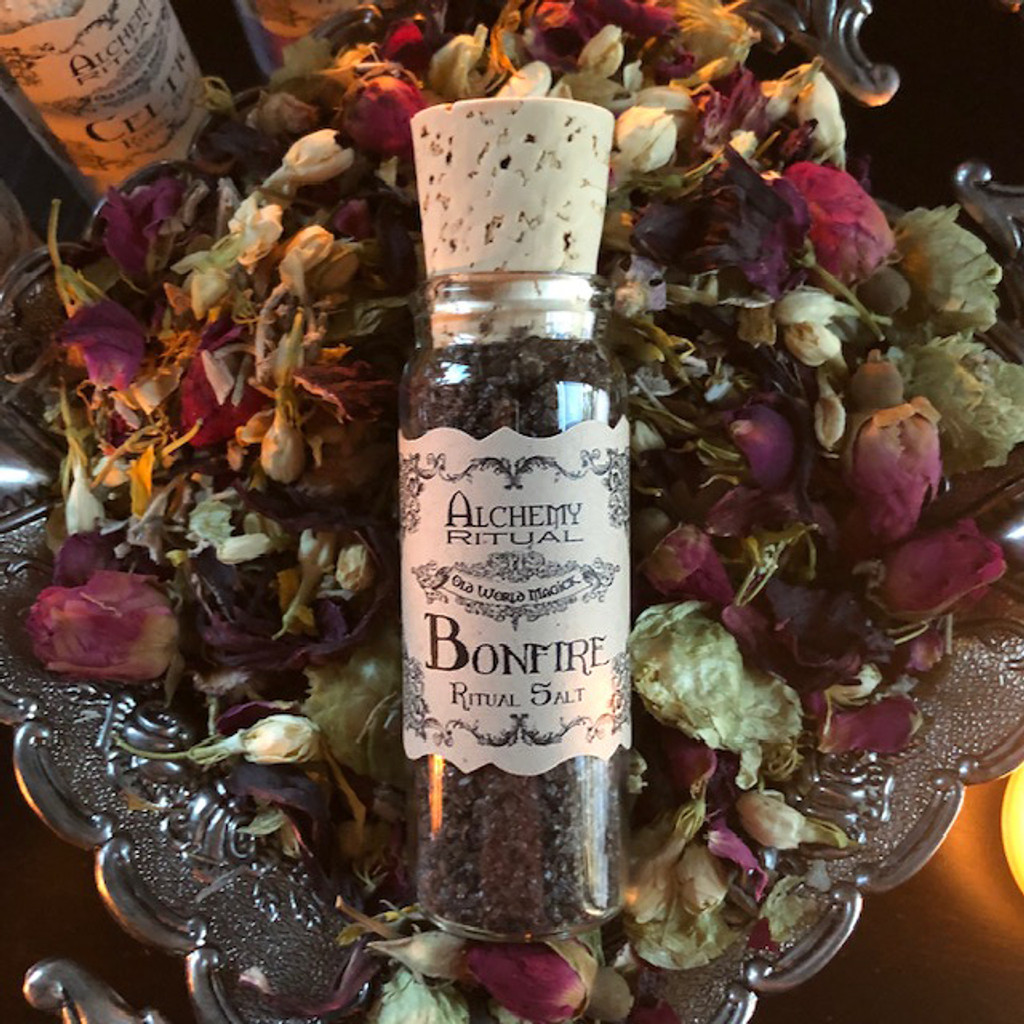 Bonfire Witch Salt for Fire Workings, Sacred Sabbats, Purification & Cleansing . Culinary . One ounce