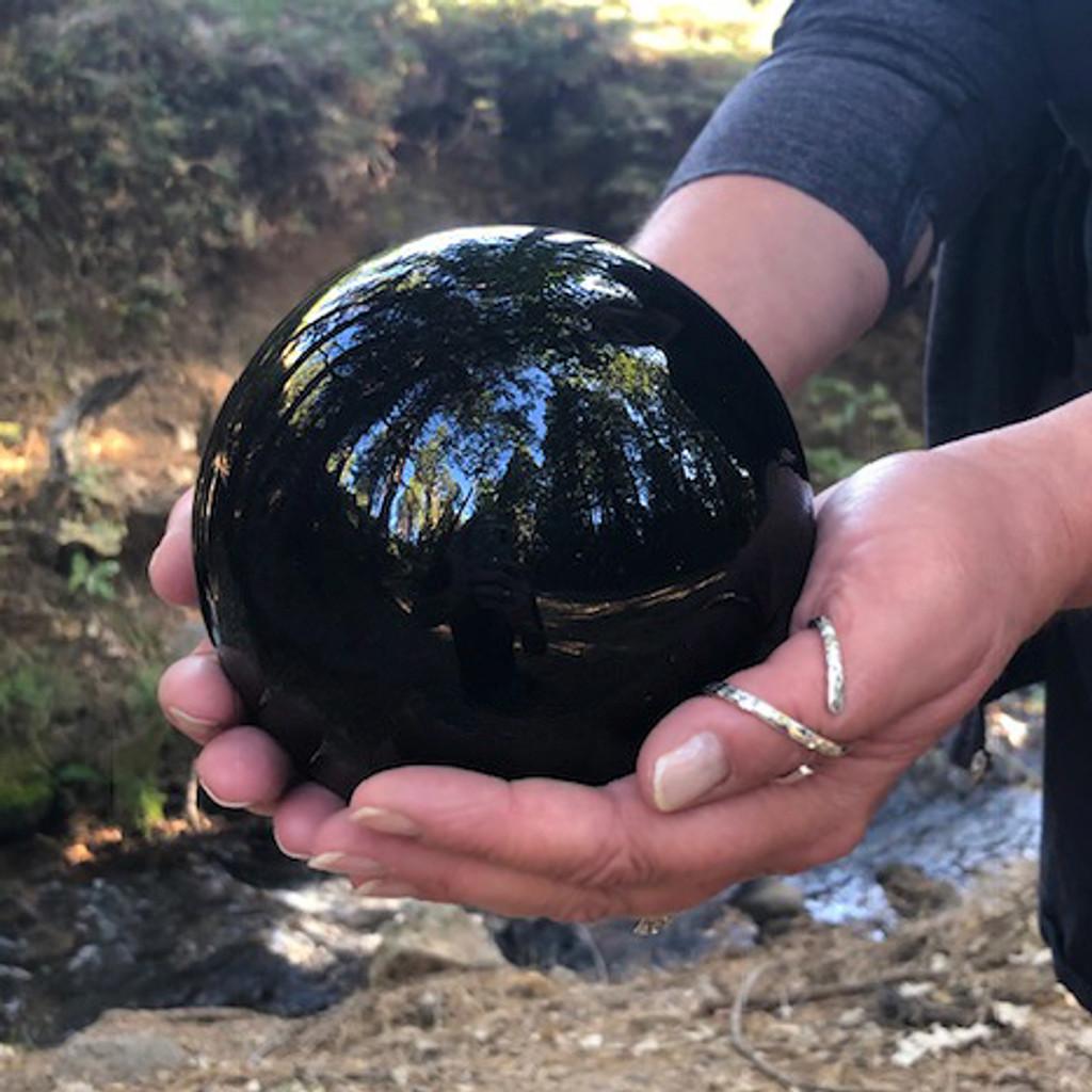 Black Obsidian Gemstone Spheres