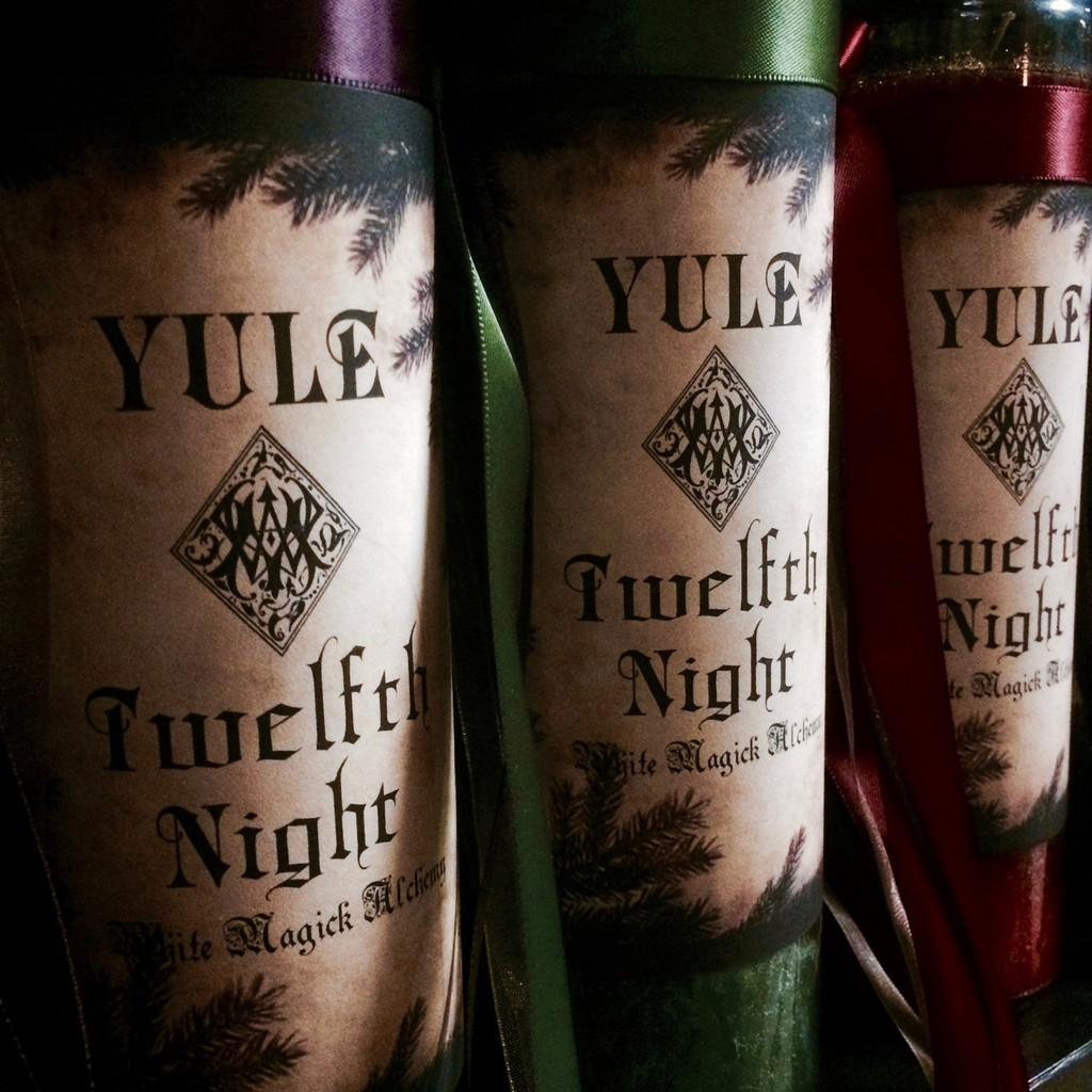 Yule Candles Vigil Lights for Christmas, Winter Solstice & Twelfth Night