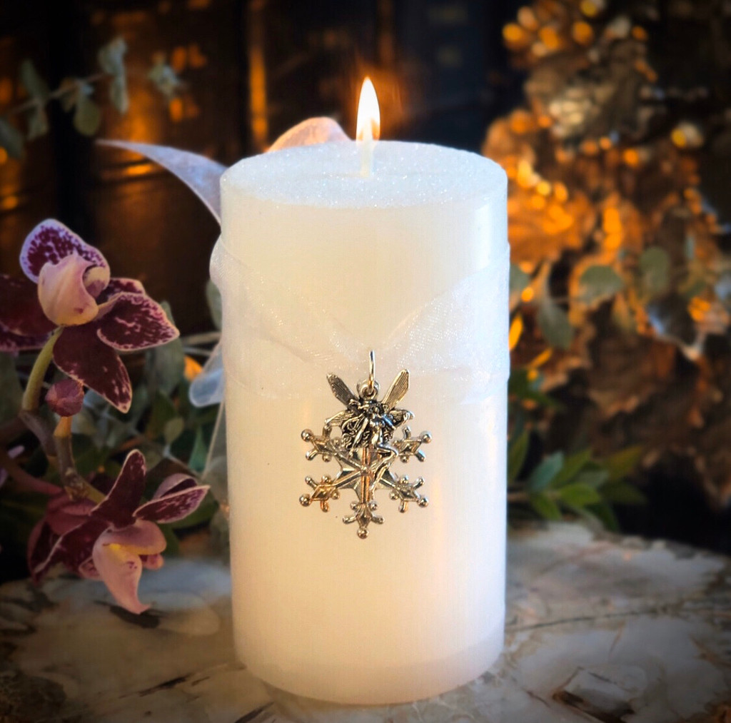 Snow Faerie Candles with Gorgeous Faerie Essences