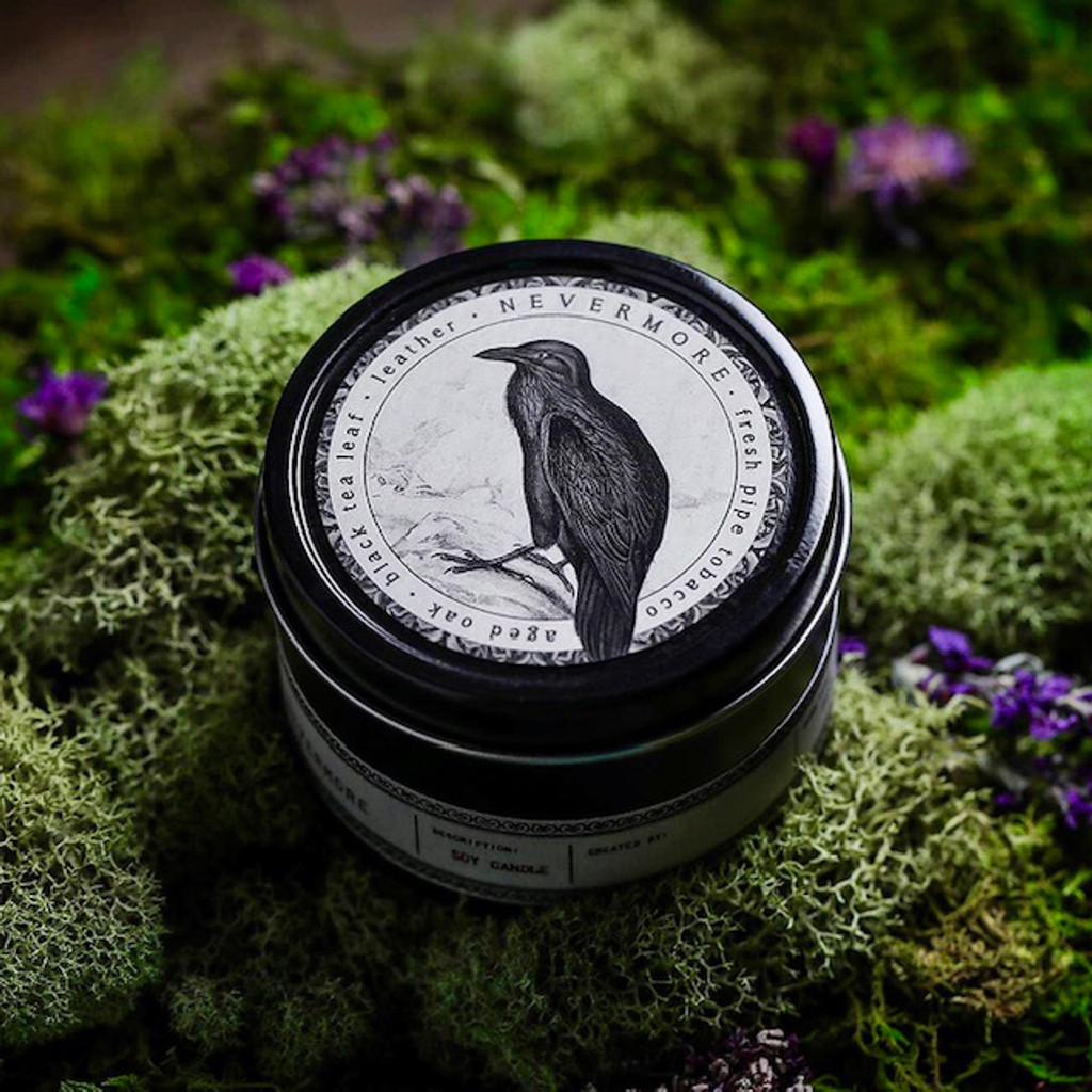 Nevermore Raven Candles