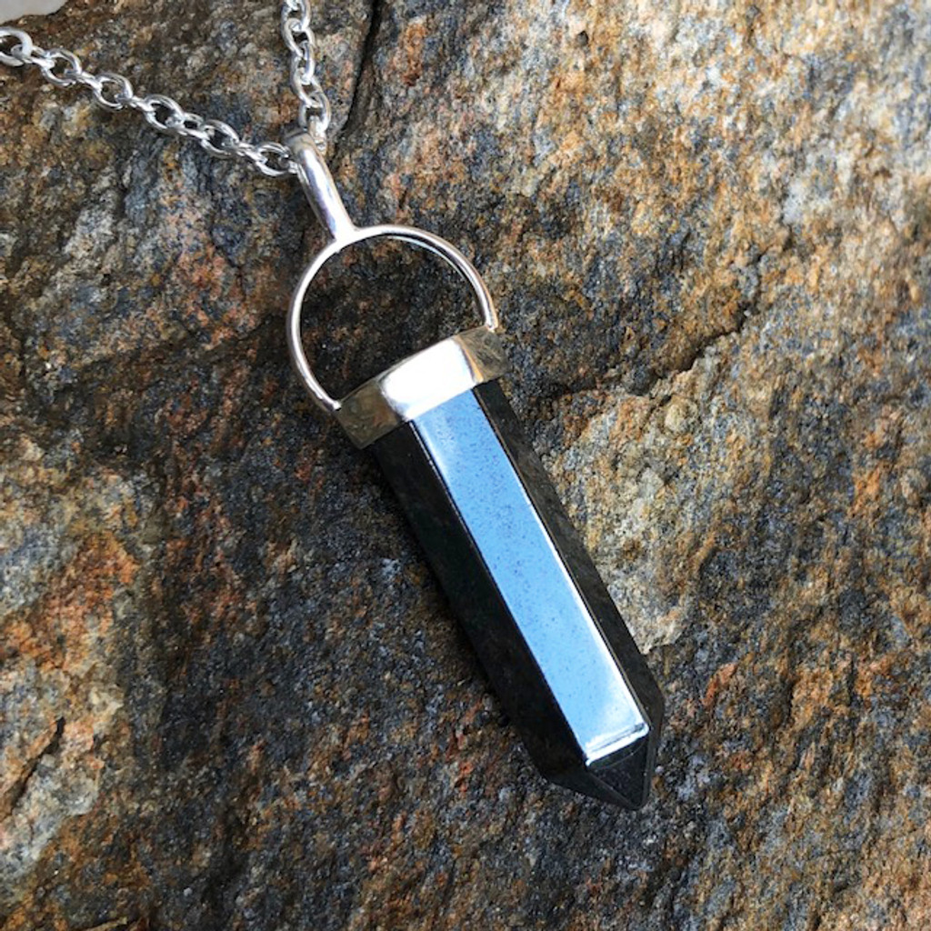 Hematite Pendant Necklace