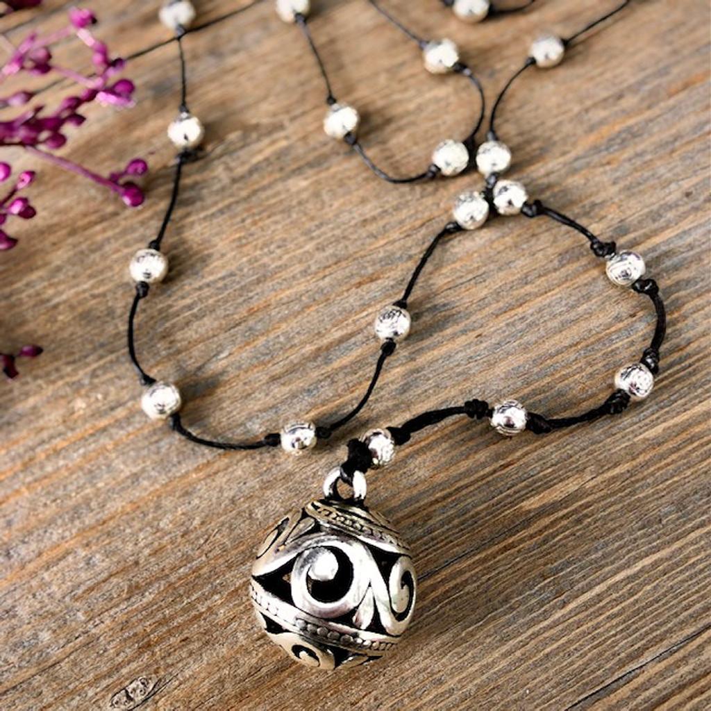 Filigree Ball Necklace