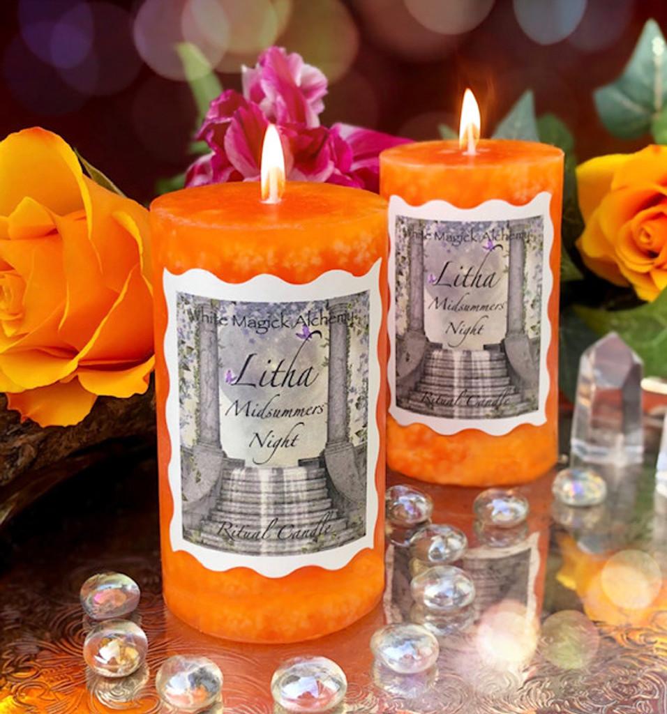 Litha Candles Summer Solstice