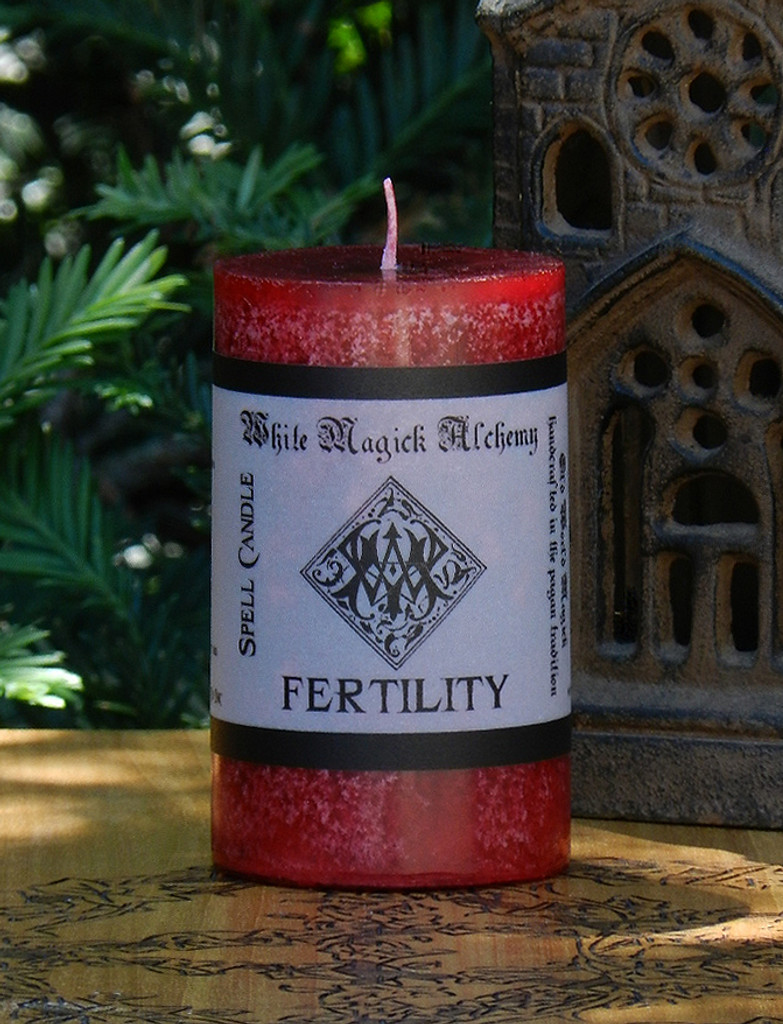 FERTILITY Spell Candle . Fertility, Purity, Renewal, Reflection, Abundance, Love