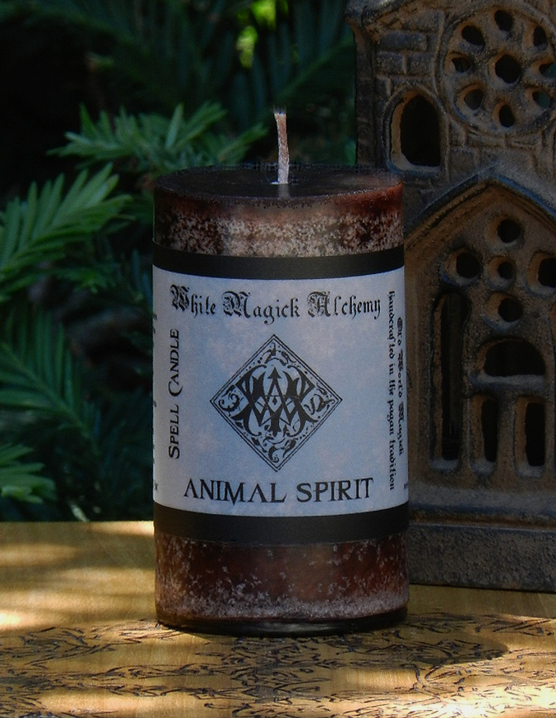 ANIMAL SPIRIT Spell Candle . For Workings with Mortal and Immortal Familiars, Animal Blessings