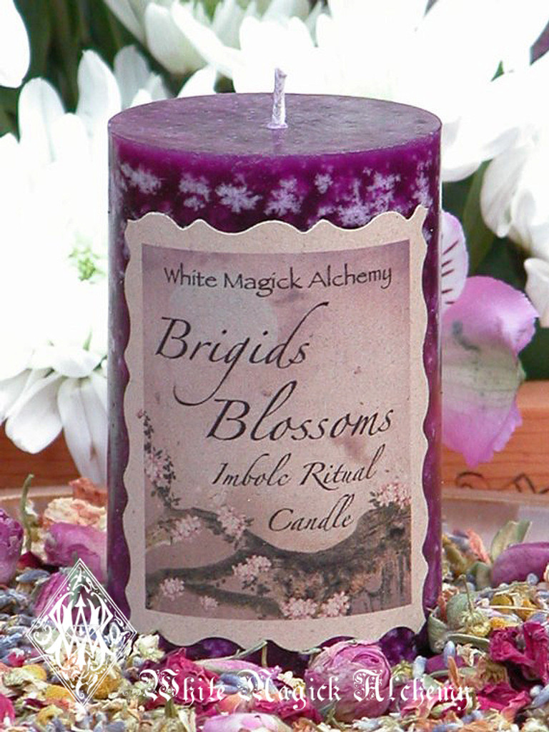 Brigids Blossoms Imbolc Candles for Flourishing Abundance, Renewal, Fertility, Purity and Illumination