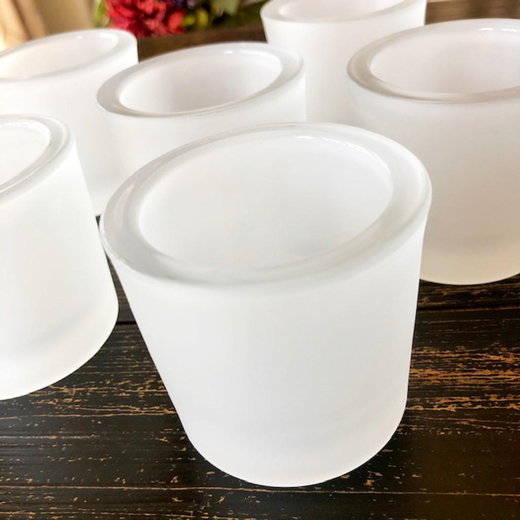 Frosted votive holders heavy duty
