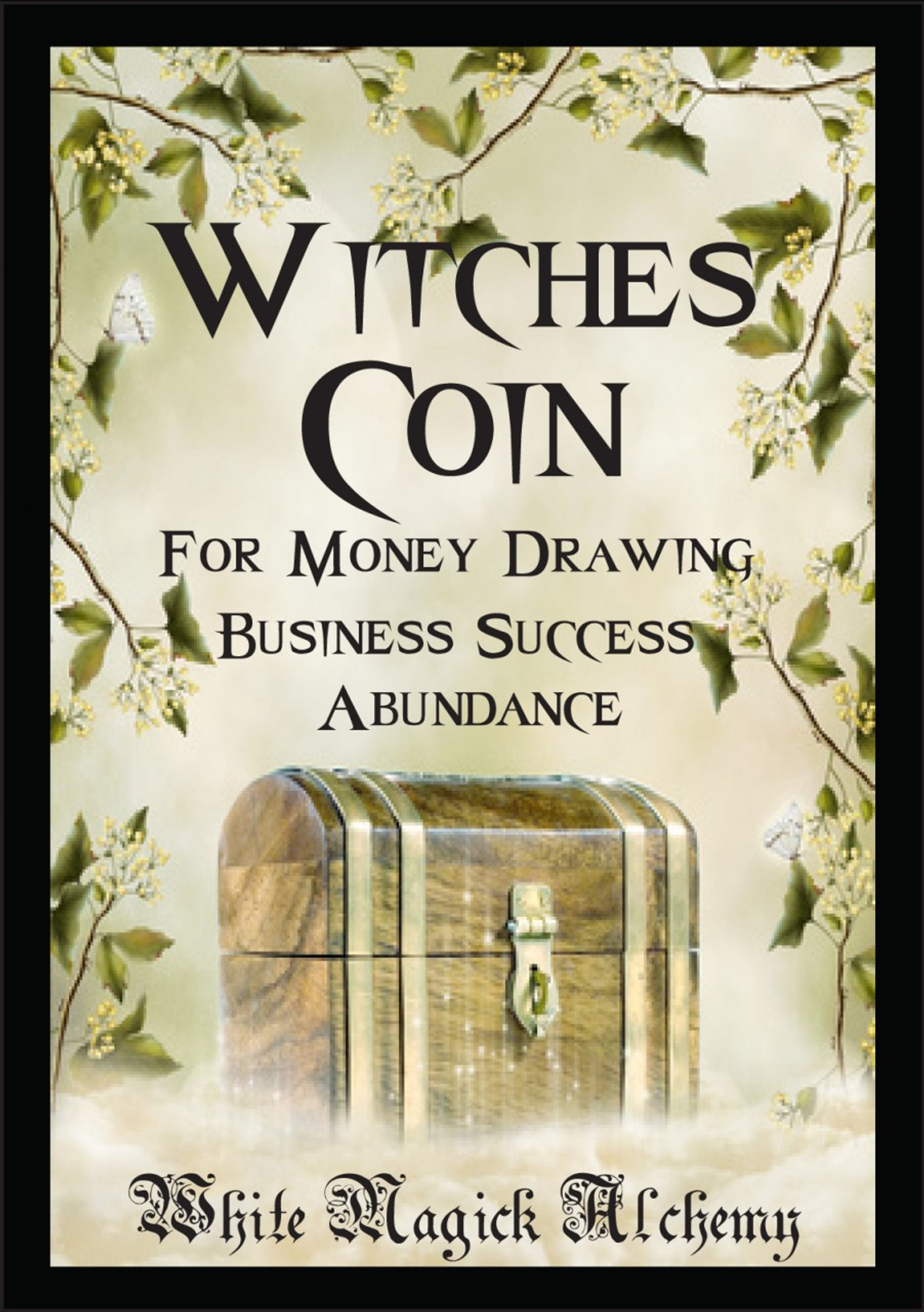 Witches Coin Ritual Spell Jar Vigil Candle   Money, Prosperity, Business  Success and Abundance