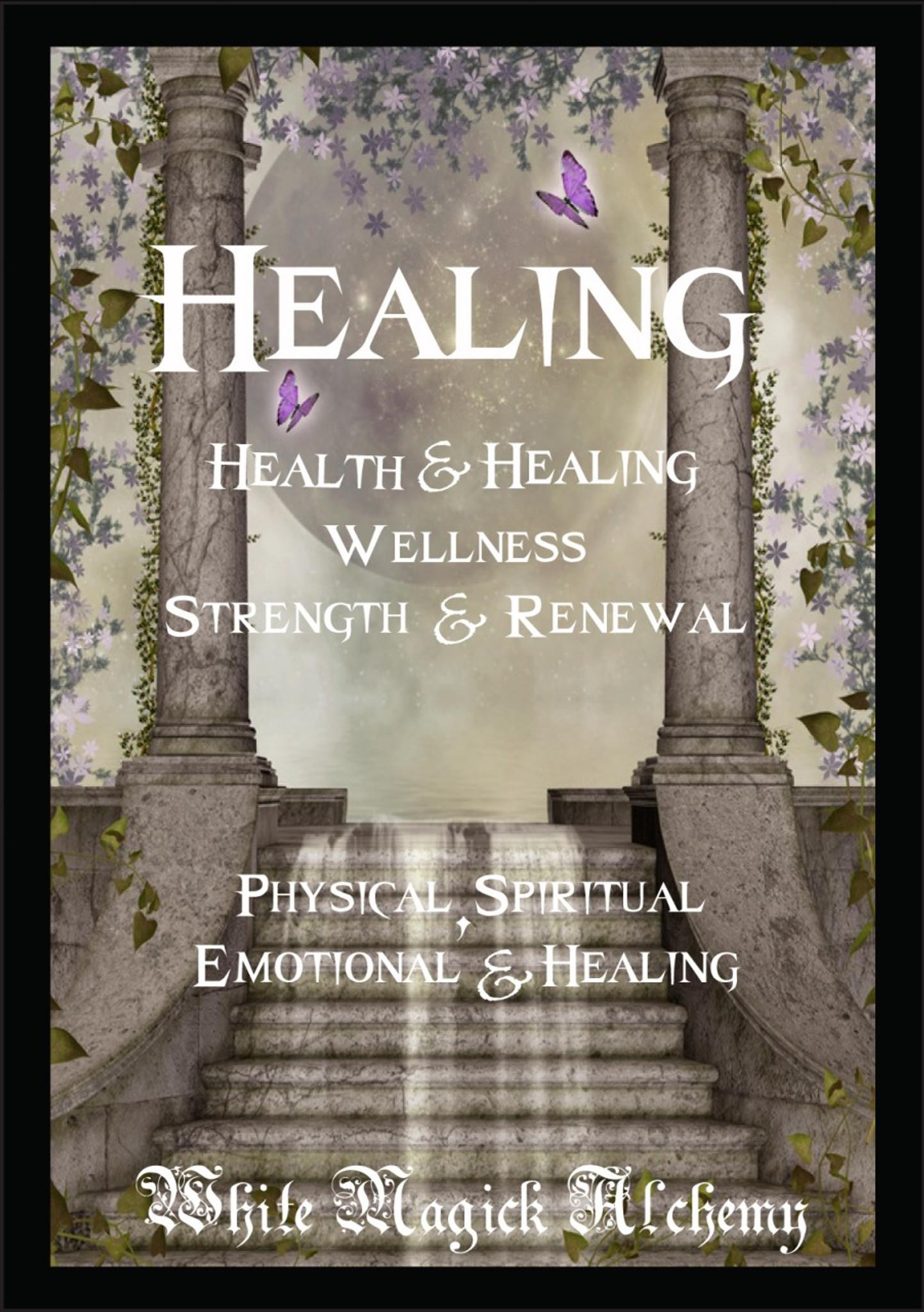 Healing Ritual Spell Jar Vigil Candle   Health, Healing, Wellness,  Strength, Courage
