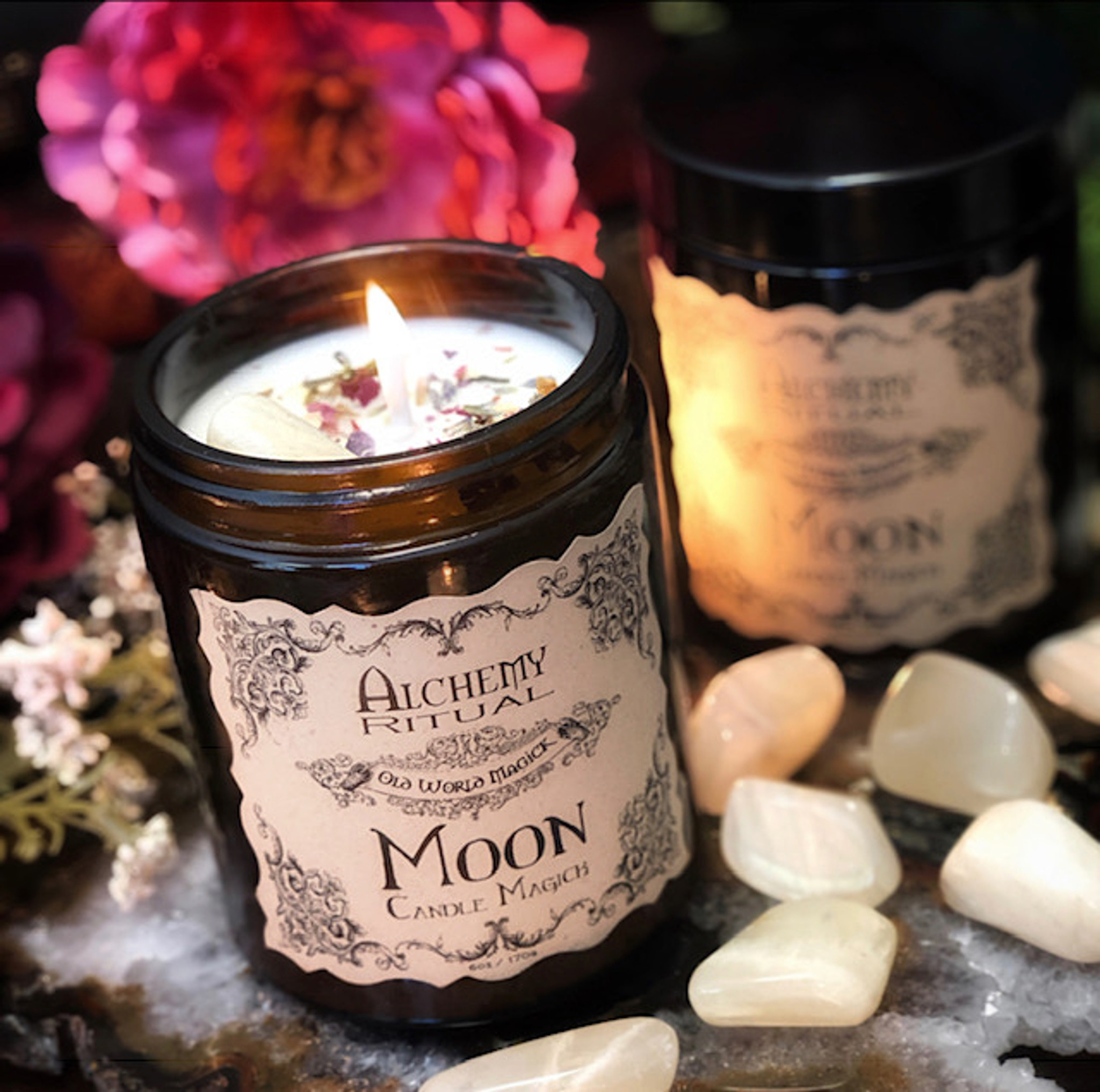 Moon Candles for Moon Rituals, Lunar Magick, Empowerment, Love,  Manifestion, Success & Sacred Blessings