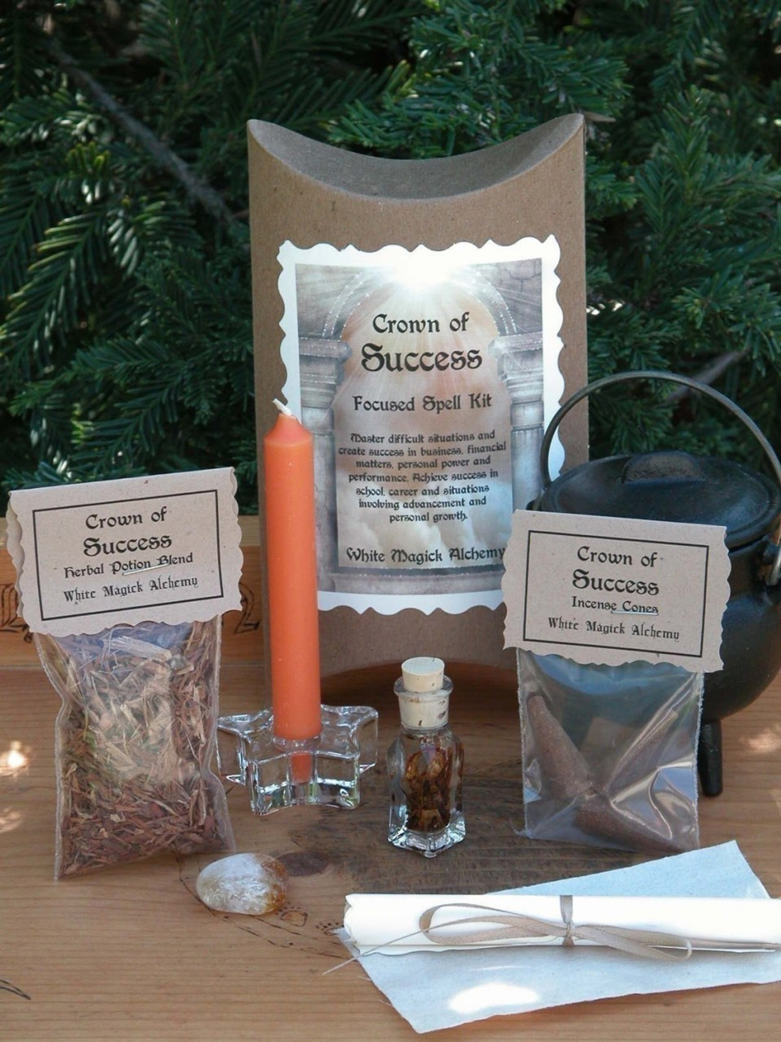 Crown of Success Focused Spell Kit   Business and Financial Success,  Personal Performance, Achievement, Advancement