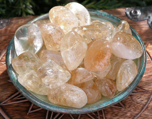 Citrine Tumbled Jumbo Set of 2