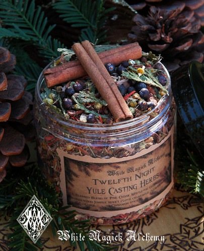 Yule Twelfth Night Casting Herbs for Yule Bonfires, Winter Solstice, Traditional Woods, Fruits and Berries
