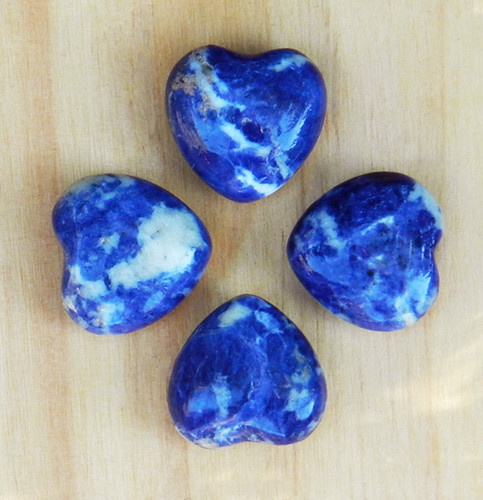 Sodalite Gemstone Heart . Peace, Healing, Healing, Intuition, Knowledge, Creativity, Luck