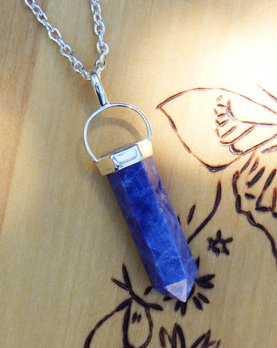 Sodalite Pendulum Necklace for Peace, Harmony, Healing, Weight Loss & Luck