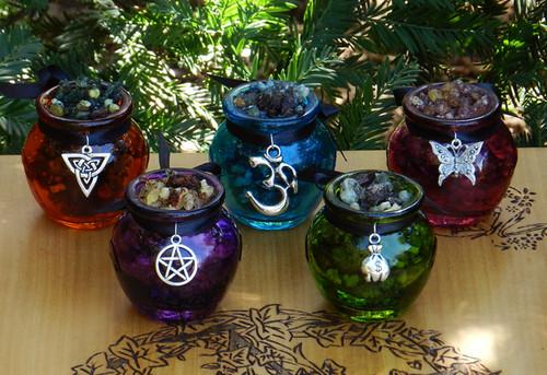 Brigid Imbolc Incense Resins Honey Purple Jars