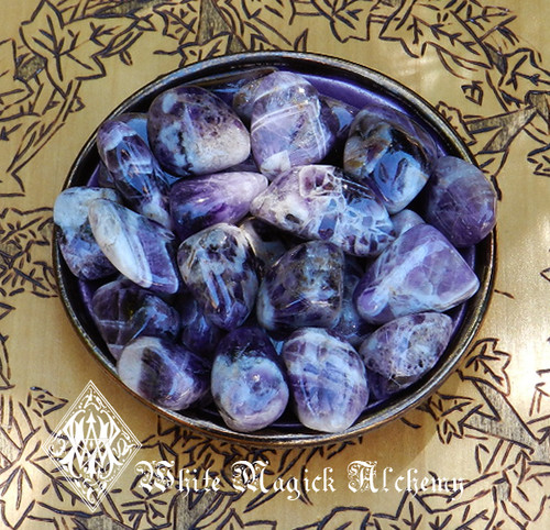 Amethyst Rare Crystal Tumbled Gemstones Pretty Banded
