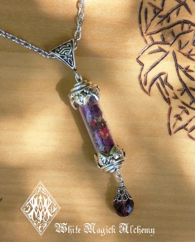 Witches Amulet Charm Pendant Necklace