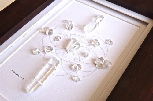 Crystal Grid MISTRAL WIND with Crystal Quartz for Ultimate Power