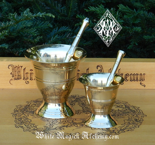 Brass Mortar & Pestles