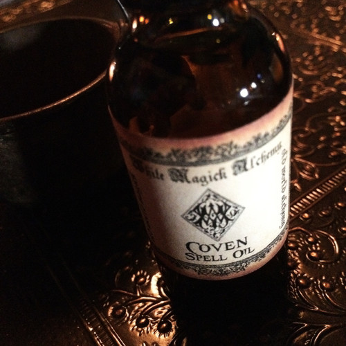 COVEN Spell Oil . Enlightenment, Strength, Initiation, Blessings