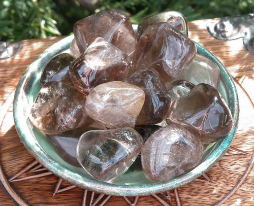 Smokey Quartz Tumbled Gemstones . Grounding, Balance, Transformation, Protection, Creativity, Positive Energy . Jumbo Set of 2