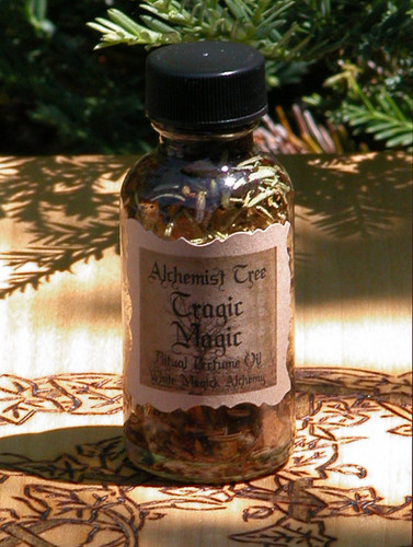 "Tragic Magic ""Alchemist Tree"" Ritual Perfume Oil . Removing Obstacles, Shielding Harmful Energy, Return to Sender, Karma"
