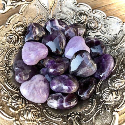 Amethyst Gemstone Hearts