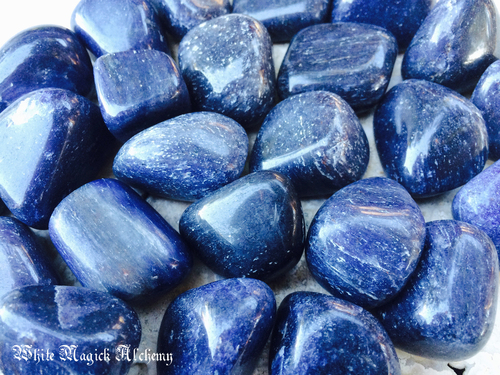 Blue Aventurine Gemstones Polished Tumbled Large Set of 2