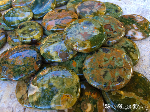 Rhyolite Gemstone Palm Stones