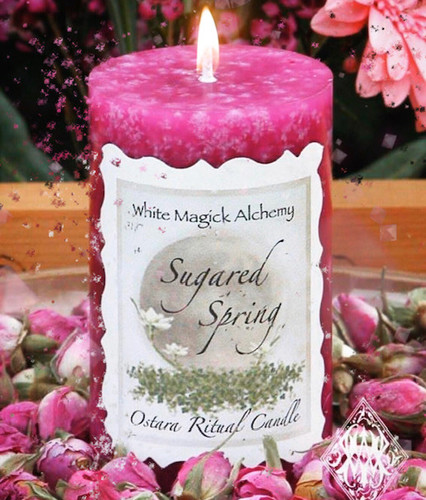 Pink Sugar Pillar Candles