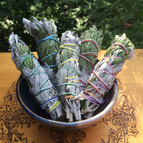 White Sage & Cedar Smudge Wands Wildcrafted