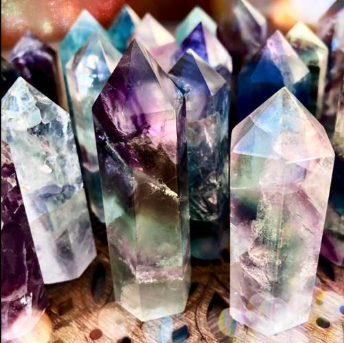 Fluorite Gemstone Points
