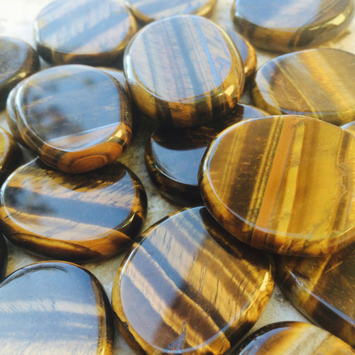 Tiger Eye Gemstone Medallions,  Luck, Prosperity, Courage, Power & Passion